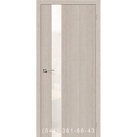 Интерьерные Двери Порта 51 капучино со стеклом (сатин матовый)