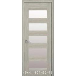 Двері Бронкс дуб шоколадний зі склом (сатин матовий)