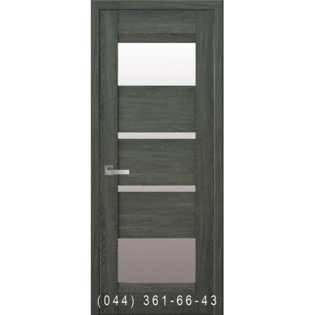 Двері Ібіца дуб графіт зі склом (сатин матовий)