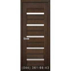 Двері Ліра дуб шоколадний зі склом (сатин матовий)