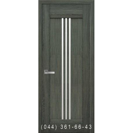 Двері Рейс дуб графіт зі склом (сатин матовий)