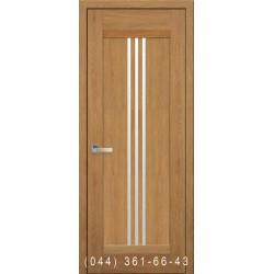 Двері Рейс дуб бурштиновий зі склом (сатин матовий)