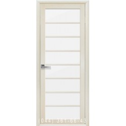 Двери Виола дуб жемчужный со стеклом (сатин матовый)