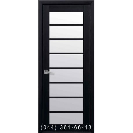 Двери Виола венге dewild со стеклом (сатин матовый)