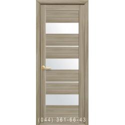 Двери Лилу сандал со стеклом (сатин матовый)