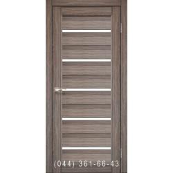 Двери КОРФАД PORTO PR-02 дуб грей со стеклом (матовое)