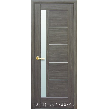Двері Грета грей зі склом (сатин матовий)