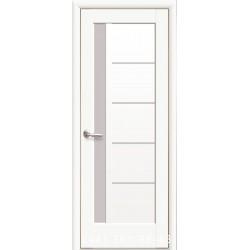 Двері Грета білий матовий зі склом (сатин матовий)