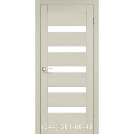 Двери КОРФАД PORTO PR-03 дуб беленый со стеклом (матовое)