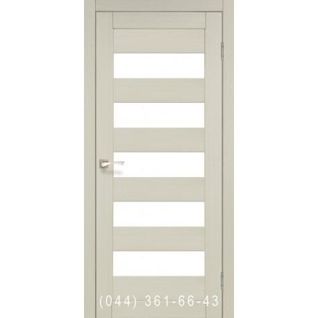 Двері КОРФАД PORTO PR-08 дуб білений зі склом (матове)
