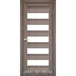 Двери КОРФАД PORTO PR-08 дуб грей со стеклом (матовое)