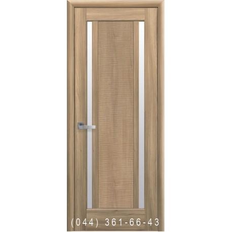 Двери Луиза золотой дуб со стеклом (сатин матовый)