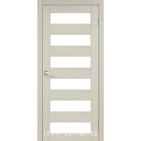Двери КОРФАД PORTO PR-04 дуб беленый со стеклом (матовое)
