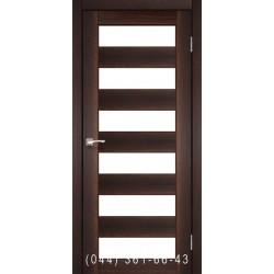 Двері КОРФАД PORTO PR-04 горіх зі склом (матове)