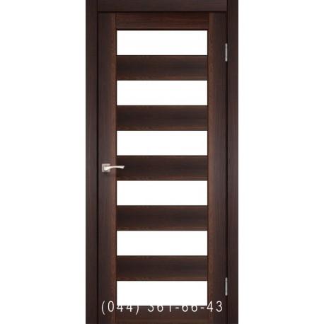 Двери КОРФАД PORTO PR-04 орех со стеклом (матовое)