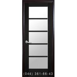 Двери Муза венге new со стеклом (сатин матовый)
