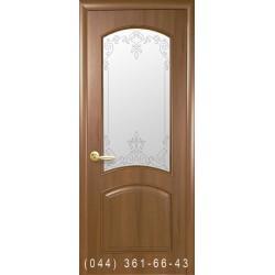 Двері Антре золота вільха зі склом (матове) + рис. Р1