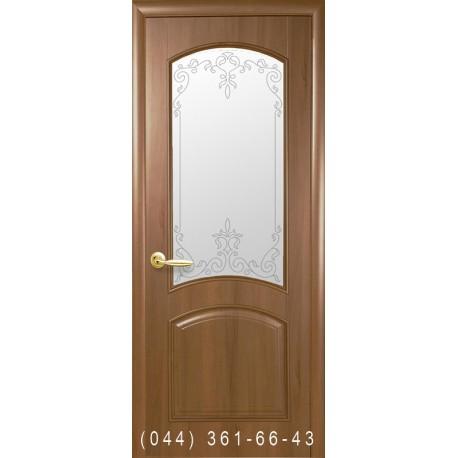 Двери Антре золотая ольха со стеклом (матовое) + рис. Р1