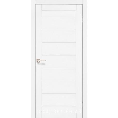 Двери КОРФАД PORTO PR-05 ясень белый со стеклом (матовое)