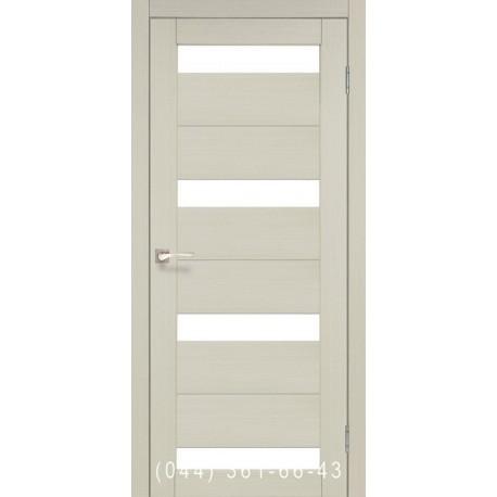 Двери КОРФАД PORTO PR-06 дуб беленый со стеклом (матовое)