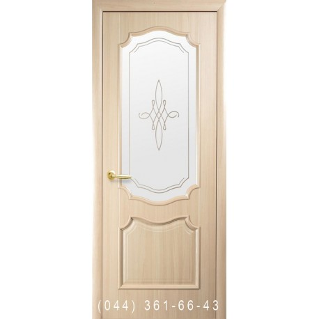 Двері Рока ясень зі склом (матове) + рис. Р1
