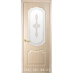 Двери Вензель (Фортис V) ясень со стеклом (матовое) + рис. Р1