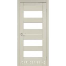 Двери КОРФАД PORTO PR-07 дуб беленый со стеклом (матовое)