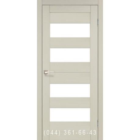 Двері КОРФАД PORTO PR-07 дуб білений зі склом (матове)