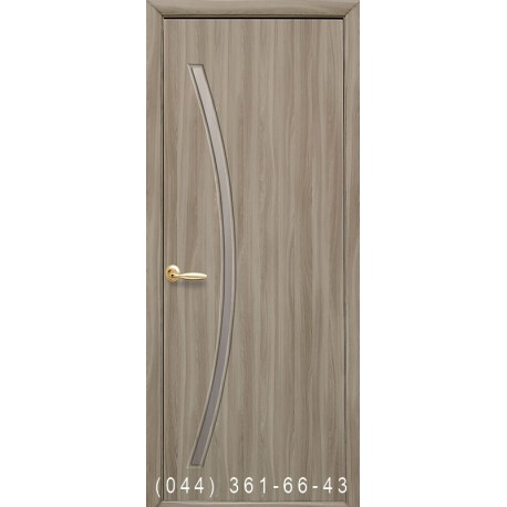 Двери Дива сандал со стеклом (сатин матовый)