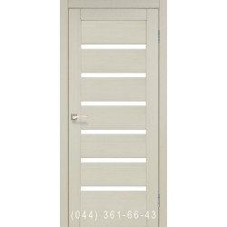 Двери КОРФАД PORTO PR-01 дуб беленый со стеклом (матовое)