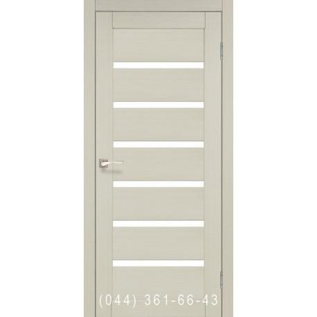 Двері КОРФАД PORTO PR-01 ясень білий зі склом (матове)