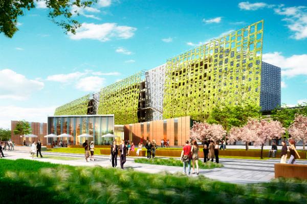 Samsung строит офисы-сады