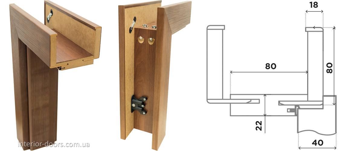 Дверна коробка BRAMA PROFI